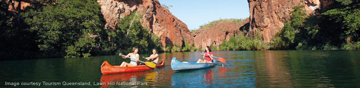 canoeing at Lawn Hill National Park