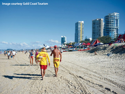 Surf lifesaving on Gold Coast beaches
