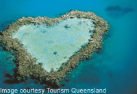 Heart Reef at Whitsundays