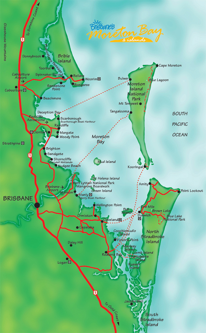 Moreton Bay Map Queensland Australia